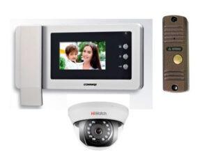 видеодомофон Commax CDV 43N вызывная панель Activision AVC 305 камера видеонаблюдения HiWatch DS-T101