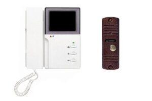 Комплект видеодомофон черно-белый Kocom